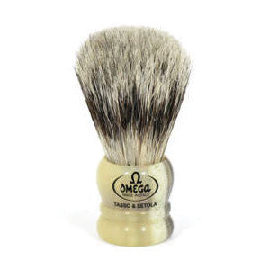 "Omega 11047 - ""Mixed Midget"" - Badger/Boar Shaving Brush - Omega - ItalianBarber.com"