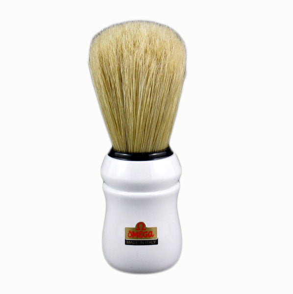 Omega 10049 - 100% Boar Bristle Shaving Brush - WHITE-Omega-ItalianBarber