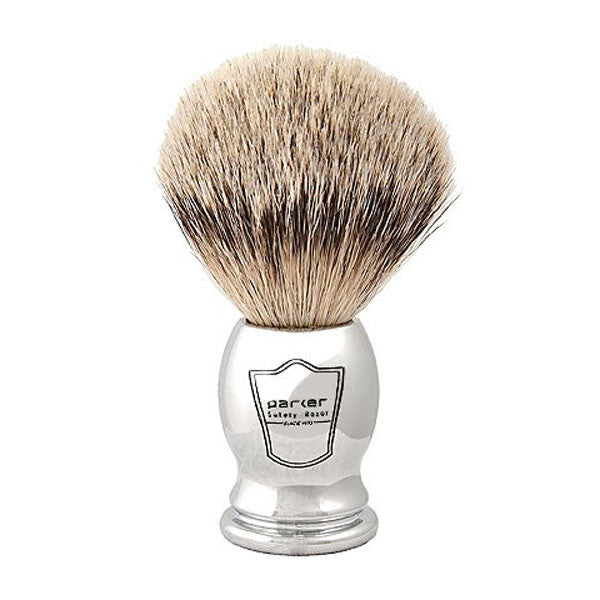 Parker 100% Silvertip Badger Chrome Handle Shaving Brush-Parker-ItalianBarber