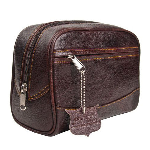 Parker Deluxe Leather Toiletry Bag (Dopp Kit)-Parker-ItalianBarber