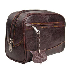 Parker Deluxe Leather Toiletry Bag (Dopp Kit) - Parker - ItalianBarber.com