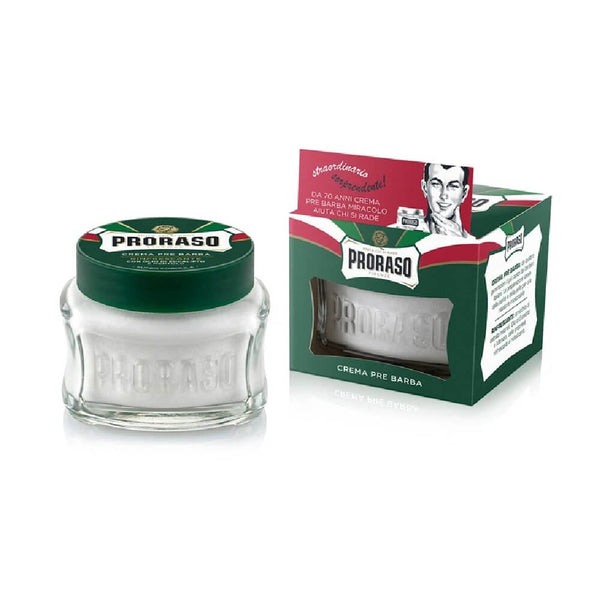 (Green Jar) Proraso Pre & Post Cream - Menthol and Eucalyptus - Cooling and Refreshing-Proraso-ItalianBarber