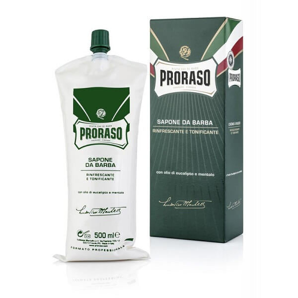 (Big Barber Tube) Proraso Shave Cream Menthol & Eucalyptus 500ml Tube-Proraso-ItalianBarber