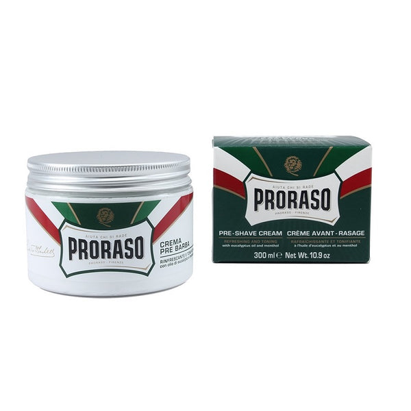 (Barber Size) Proraso Pre & Post Cream - Menthol and Eucalyptus - 300ml Big Jar-Proraso-ItalianBarber