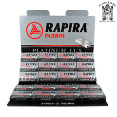 10 Rapira Platinum Lux DE Blades, 2 packs of 5 (10 blades) - (For Kits - CSKB)-Rapira Blades-ItalianBarber