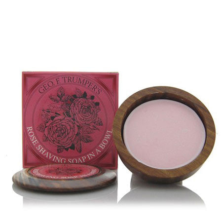 Geo F Trumper Rose Hard Shaving Soap Wooden Bowl 80g - Geo F Trumper - ItalianBarber.com