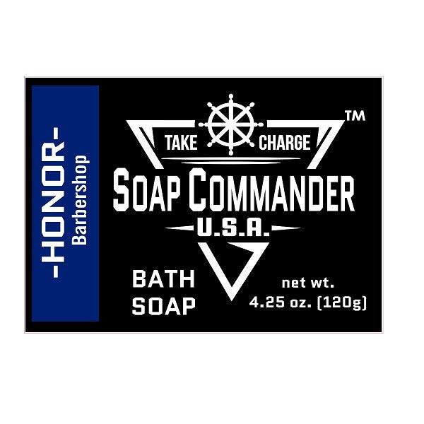 Soap Commander Bath Bar Soap - Honor-Soap Commander-ItalianBarber