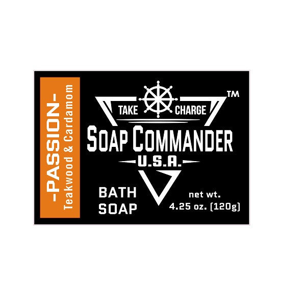 Soap Commander Bath Bar Soap - Passion-Soap Commander-ItalianBarber