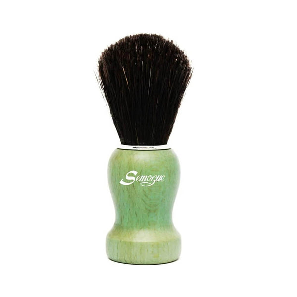 Semogue Pharos-C3 Pure Black Horse Shaving Brush - Ocean Green Handle-Semogue-ItalianBarber