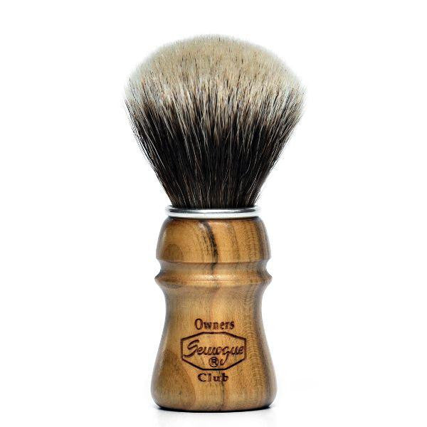 Semogue Owners Club 2 Band Badger Shaving Brush, Cherry Wood - Semogue - ItalianBarber.com