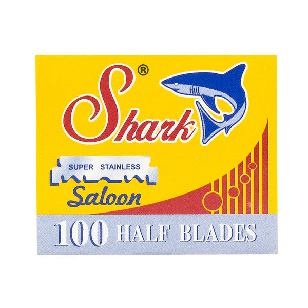100 Shark Half Blades for Barber Razors - Shark Blades - ItalianBarber.com