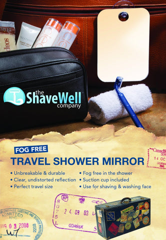 Shave Well Company Fog Free Travel Mirror-Shave Well Mirrors-ItalianBarber