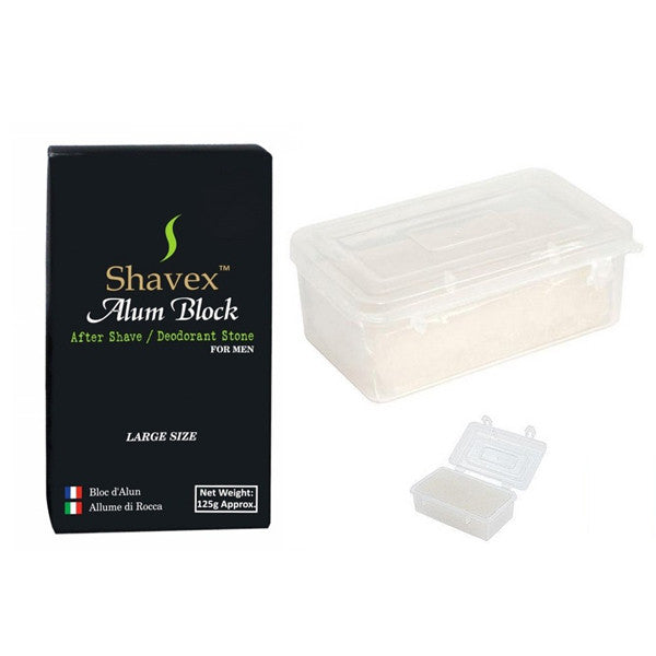 Shavex 125g Alum Block in plastic case - NEW Packaging-Shavex-ItalianBarber