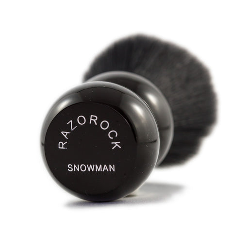 (Tuxedo) RazoRock Snowman Shaving Brush - with Tuxedo Plissoft Synthetic Knot-RazoRock-ItalianBarber