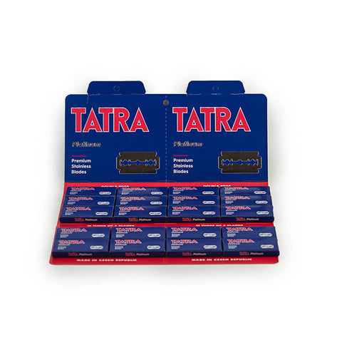 100 Tatra Platinum Double Edge Safety Razor Blades, 20 packs of 5 (100 blades)-Tatra-ItalianBarber