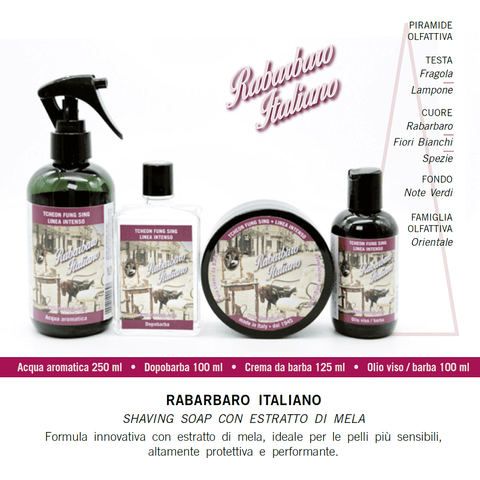 TFS Intense Line Artisan Aftershave Splash - Rabarbaro Italiano-Tcheon Fung Sing TFS-ItalianBarber