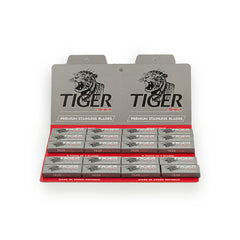 100 Tiger Platinum Double Edge Safety Razor Blades, 20 packs of 5 (100 blades)-Tiger-ItalianBarber