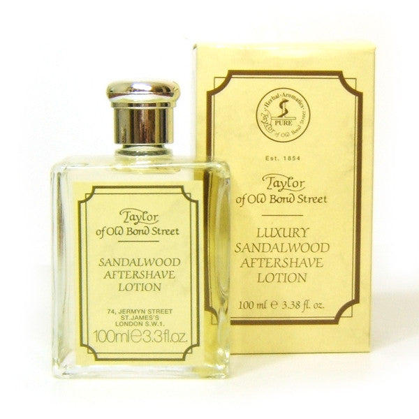 Taylor of Old Bond Street Aftershave Lotion, Sandalwood 100ml - Taylor of Old Bond Street - ItalianBarber.com