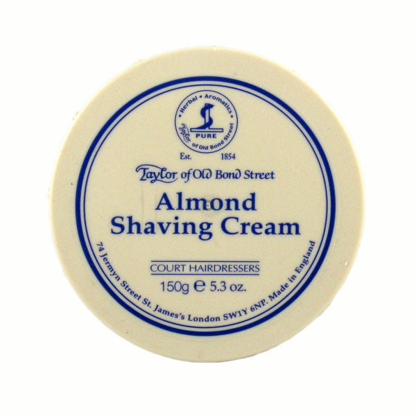 Taylor of Old Bond Street Shaving Cream Bowl, Almond 150g-Taylor of Old Bond Street-ItalianBarber