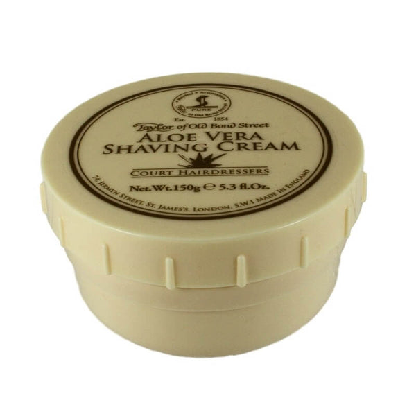 Taylor of Old Bond Street Shaving Cream Bowl, Aloe Vera 150g-Taylor of Old Bond Street-ItalianBarber