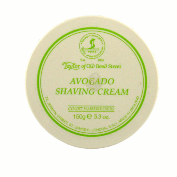 Taylor of Old Bond Street Shaving Cream Bowl, Avocado 150g-Taylor of Old Bond Street-ItalianBarber