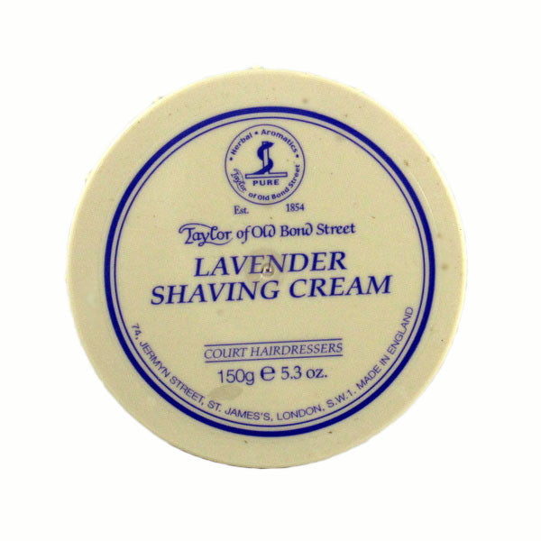 Taylor of Old Bond Street Shaving Cream Bowl, Lavender 150g-Taylor of Old Bond Street-ItalianBarber
