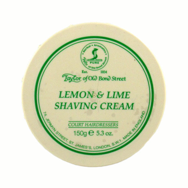 Taylor of Old Bond Street Shaving Cream Bowl, Lemon & Lime 150g-Taylor of Old Bond Street-ItalianBarber