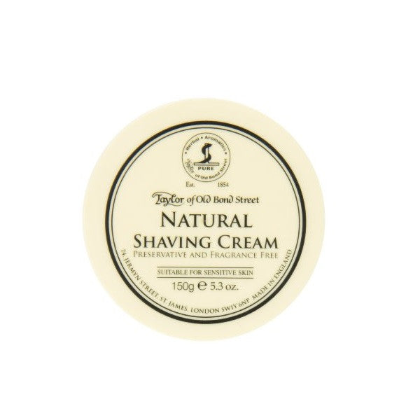 Taylor of Old Bond Street Shaving Cream Bowl, Natural Unscented 150g-Taylor of Old Bond Street-ItalianBarber
