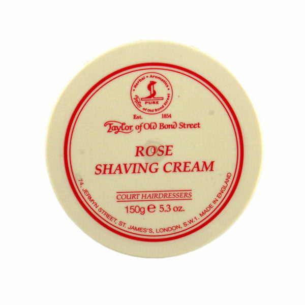 Taylor of Old Bond Street Shaving Cream Bowl, Rose 150g-Taylor of Old Bond Street-ItalianBarber