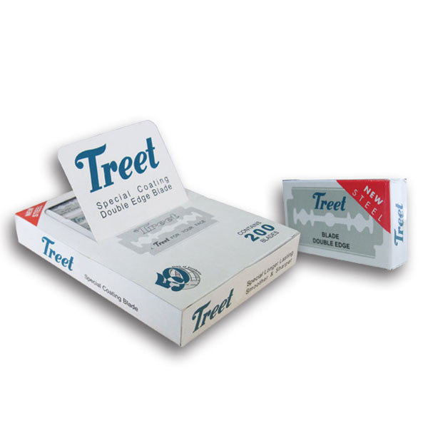 200 Treet New Steel Double Edge Blades, 20 packs of 10 blades - Treet - ItalianBarber.com