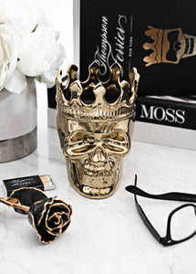 Wood Charnel Bonaparte Skull Candle