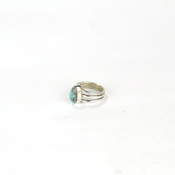 Turquoise and Sterling Ring - 10