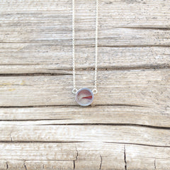 Agate and Sterling Inlay Necklace