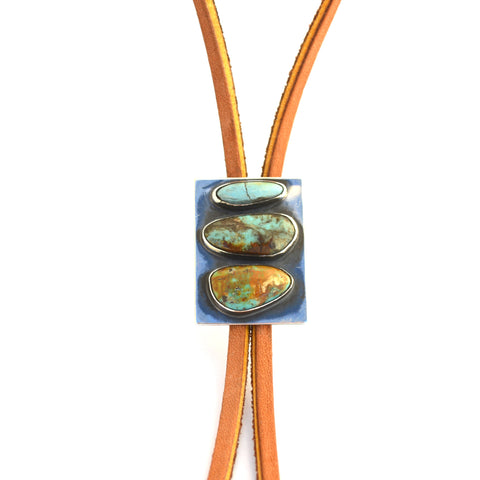 Turquoise and Sterling Bolo Tie