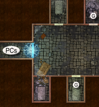 Load image into Gallery viewer, 13th Age RPG The Crown Commands Map Folio: Battle Scenes for Four Icons