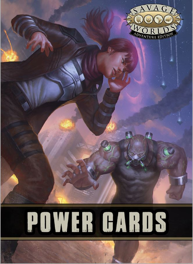 Savage Worlds RPG Power Cards (Adventure Edition)