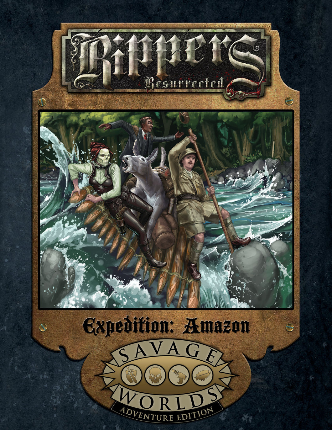 Savage Worlds RPG Rippers Resurrected Expedition: Amazon (Adventure Edition)