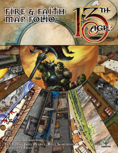 13th Age RPG Fire & Faith Map Folio: Battle Scenes for Four Icons