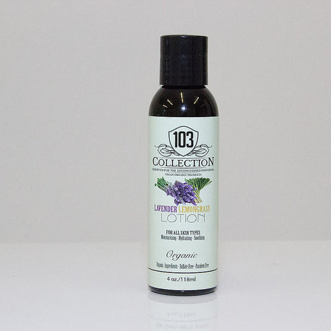 103 Collection - Vegan Organic Lavender Lemongrass Lotion