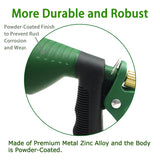 H2O WORKS  Metal Nozzle Hose with Adjustable Watering Patterns