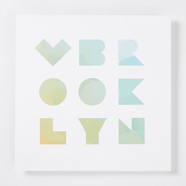 Love Brooklyn Print (12x12)