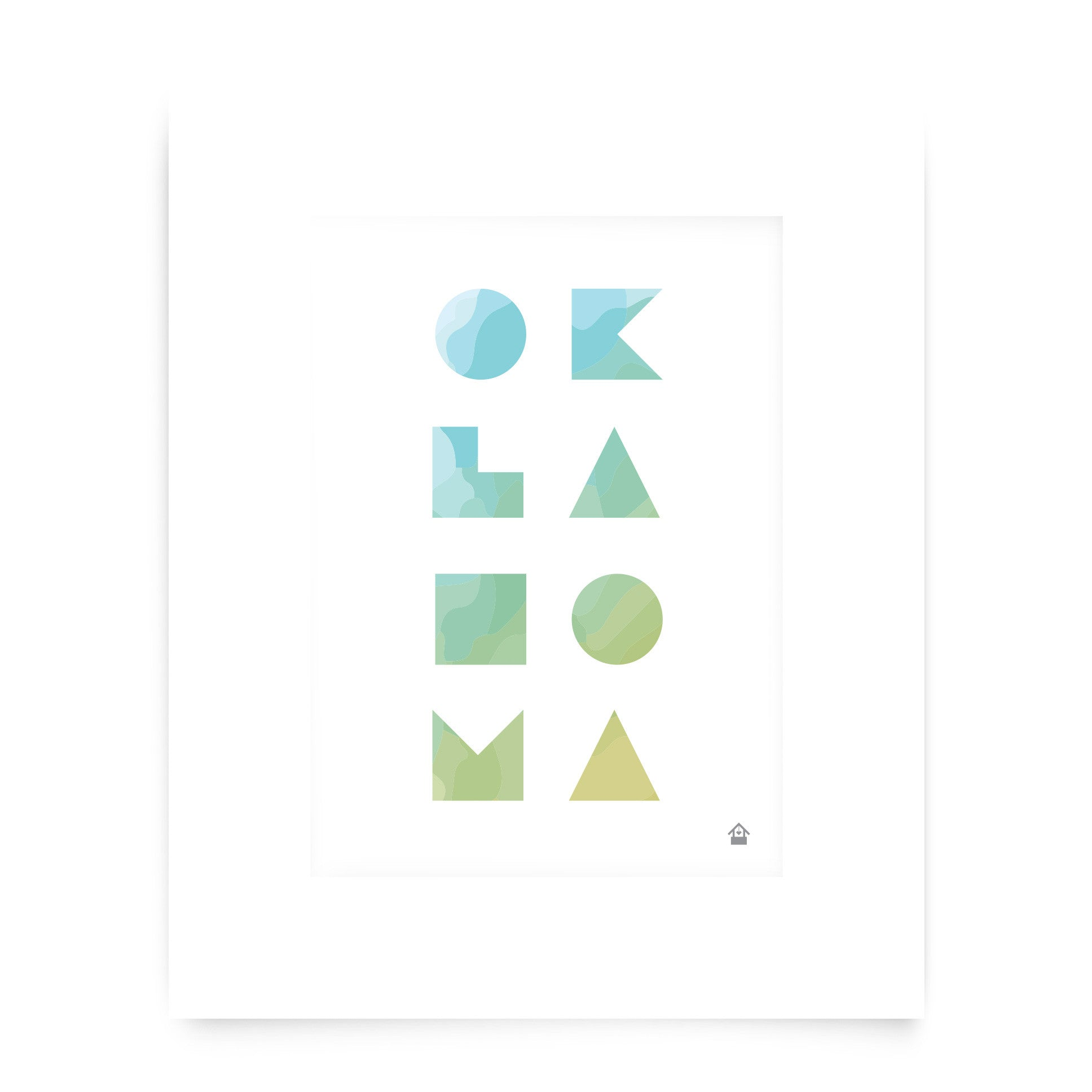 Oklahoma Watercolor Print