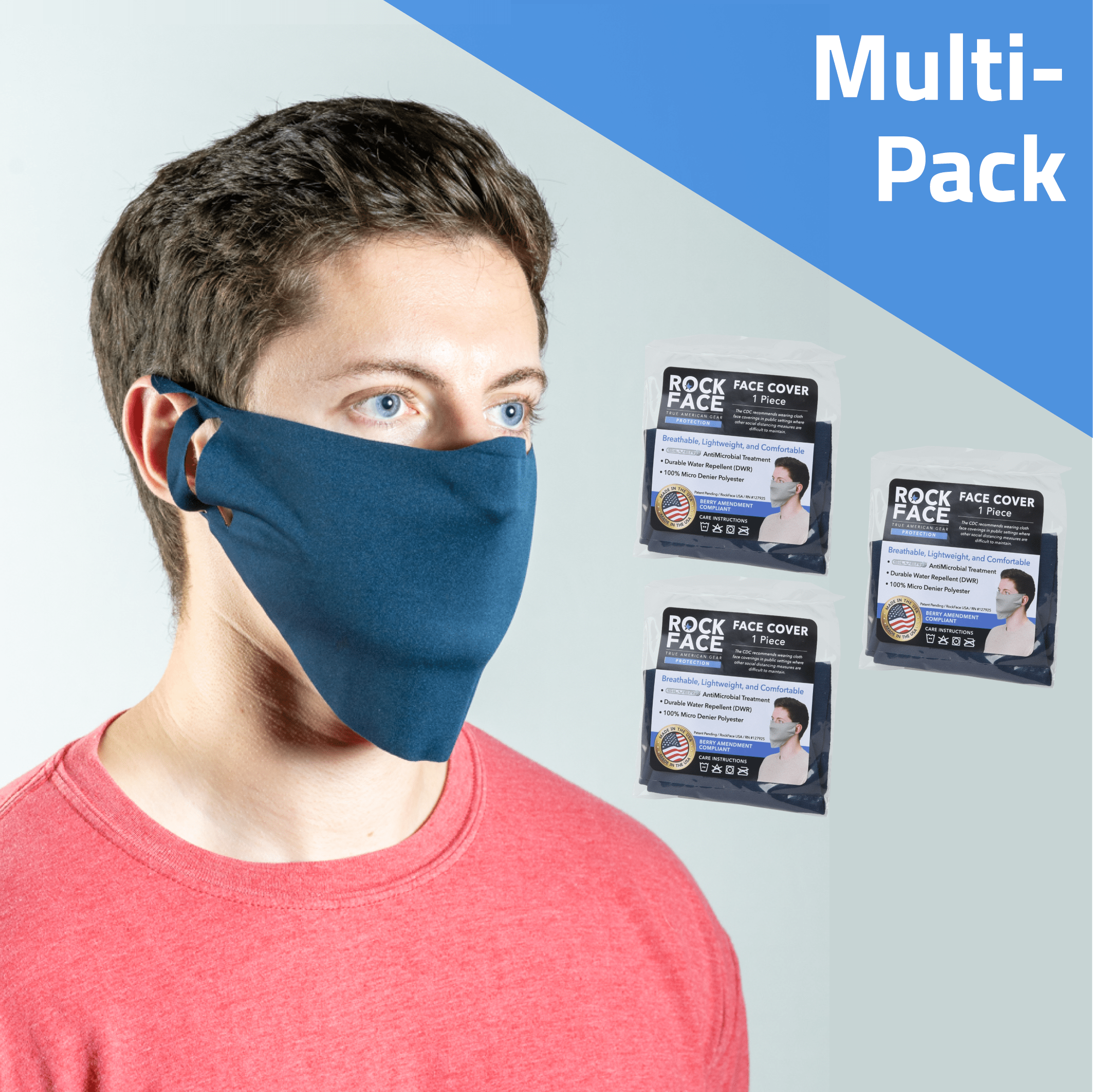 Active Face Cover Multipack - 3, 5 & 10 Count - RockFace USA