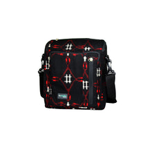 Load image into Gallery viewer, ReCreate Convertible Bag (Kimono Collection) - Black & Red Pattern