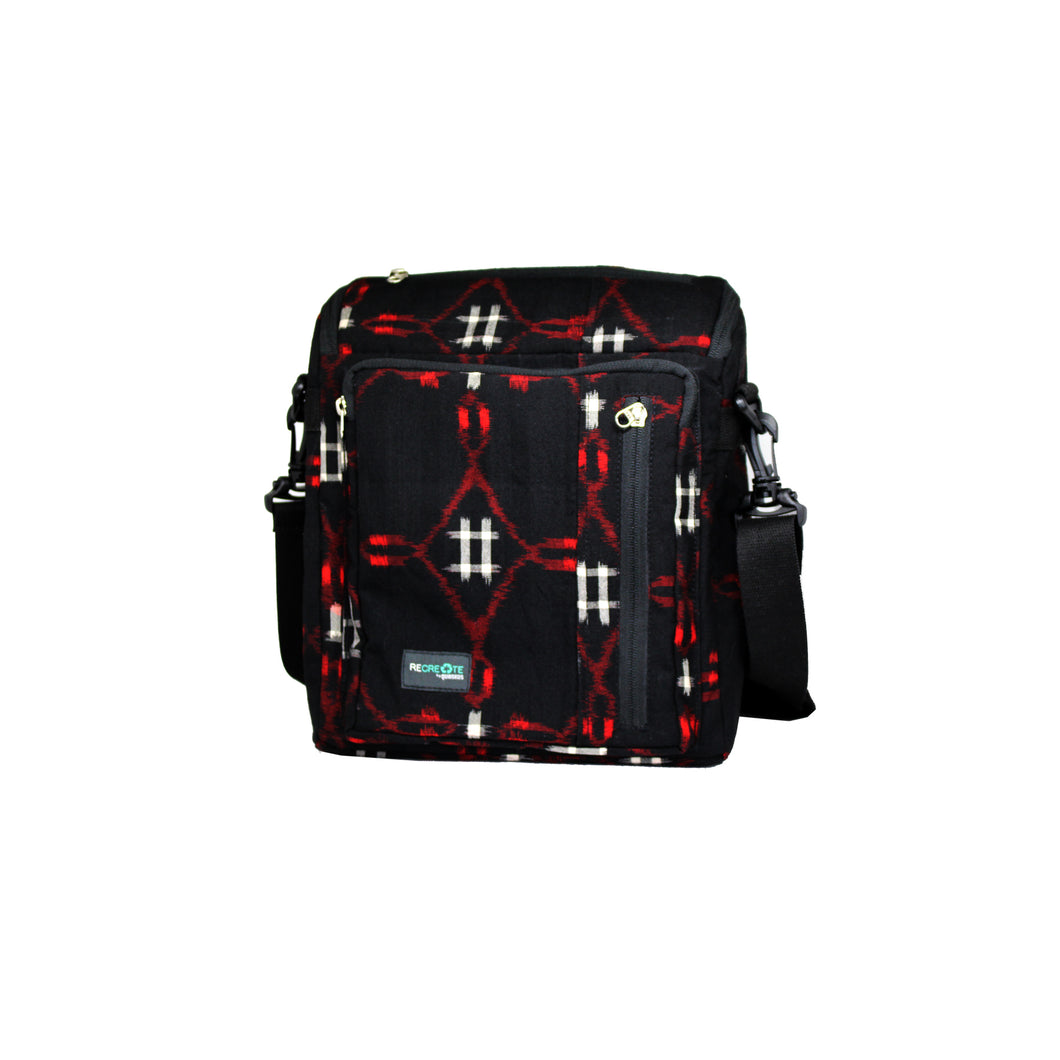 ReCreate Convertible Bag (Kimono Collection) - Black & Red Pattern