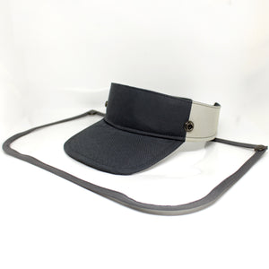 Sunvisor face shield - Gray Combination