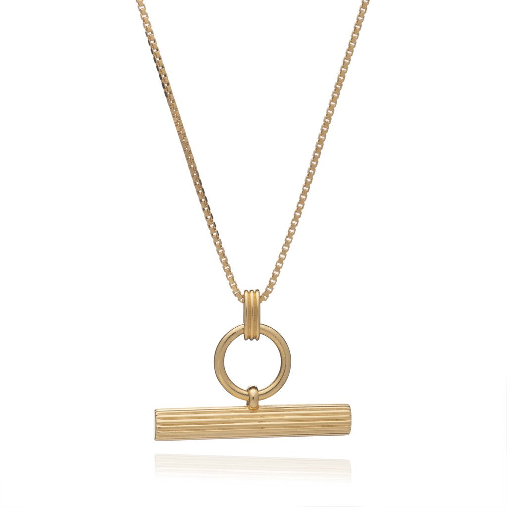 Rachel Jackson T Bar Necklace Gold Plated
