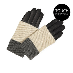 Markberg Helly Leather/Wool Glove-Grey Mix