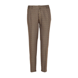 Reiko Liv Fancy Slim Fit Trousers-Royal Leaves