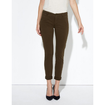 Reiko Princy Chino Trousers in Khaki